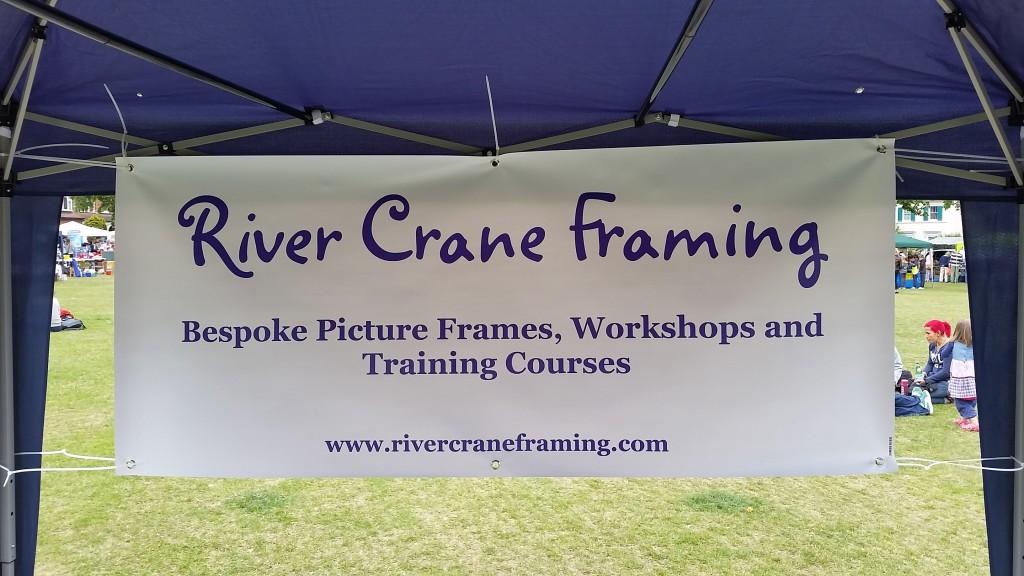 River Crane Framing at Twickenham Green Fair