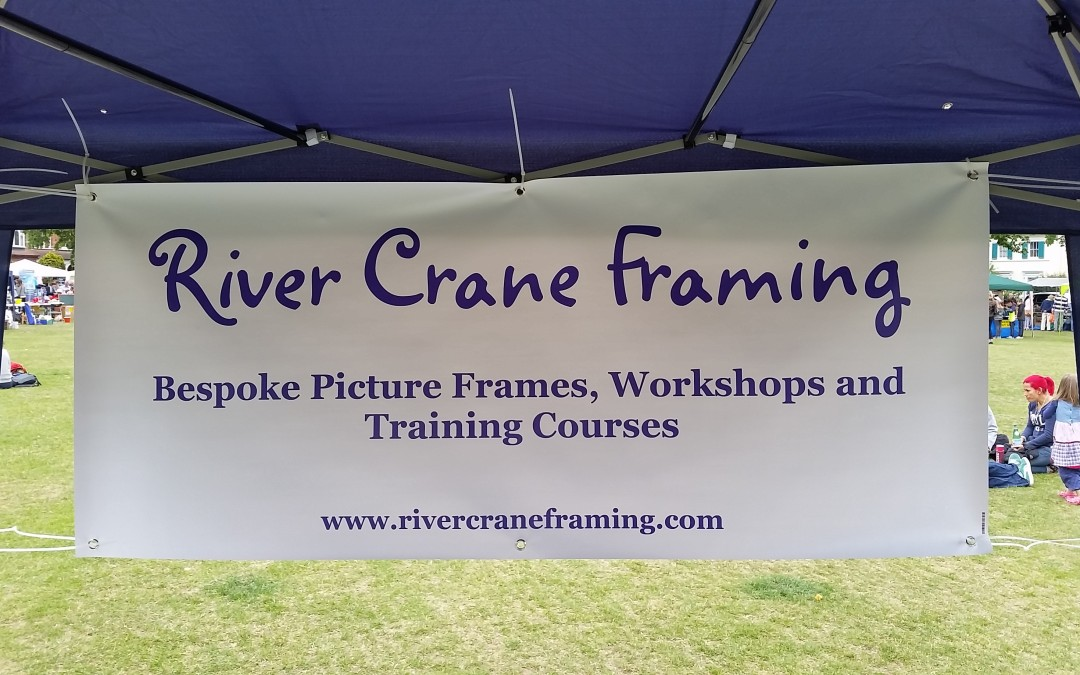 River Crane Framing visits Twickenham Green Charity Fair